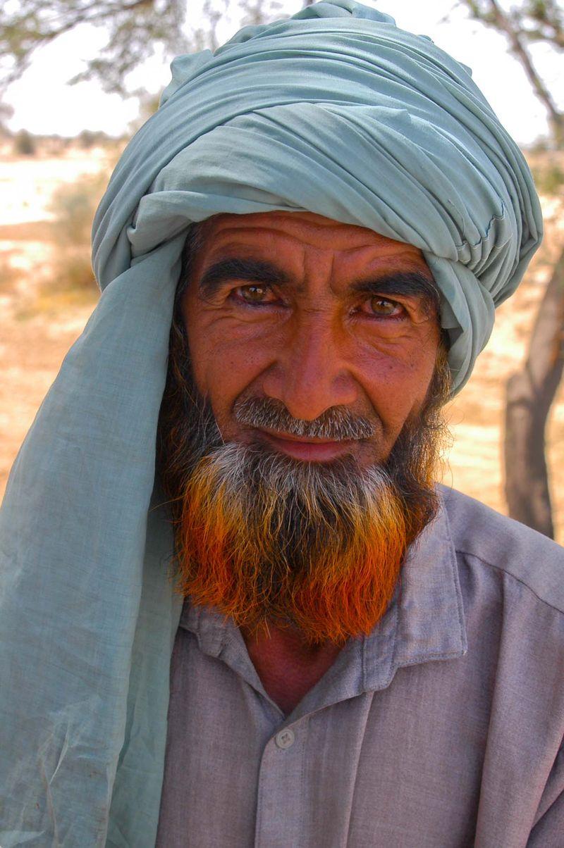 Blue Farmer, Waziristan, Pakistan, 2004 Daniel Sullivan